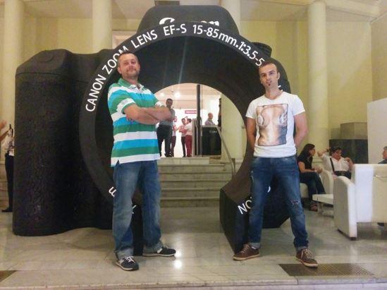 Paco y Fusky en el WorldPressPhoto 2014